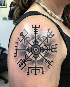 Image result for viking compass tattoos                                                                                                                                                                                 More