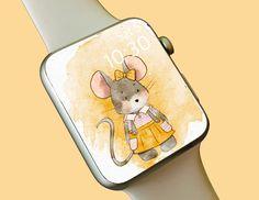 Watch Wallpaper / Apple Watch / FitBit / Smartwatch / Watch Background Best Apple Watch, Apple Watch Faces, Wallpaper Backgrounds, Iphone Wallpaper, Fitbit App, Share Icon, Star Watch, Apple Watch Wallpaper, Super Cute Animals