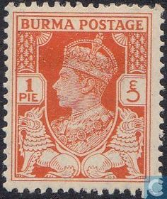 Burma - King George VI 1940 Airmail, King George, Roman Numerals, Stamp Collecting, Postage Stamps, British, Antiques, Antiquities, England