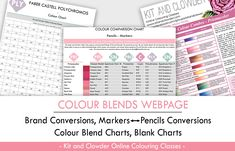 Marker and Pencil Colour Blend Charts