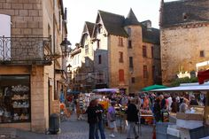 Saturday is market day in Sarlat, France