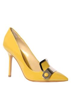 Fall and Winter Heels: Pollini By Nicholas Kirkwood Yellow Loafer