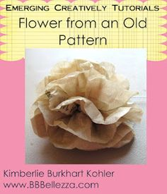 Use tissue paper or an old pattern for clothing.