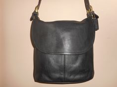 "Vintage COACH 11"" 11"" Black Leather Whitney Hobo/Shoulder Bag K5H-4115 USA by COACHCROSSING on Etsy"
