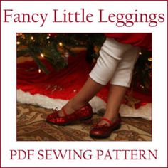 Fancy Little Leggings PDF sewing pattern   Sewing Pattern   YouCanMakeThis.com