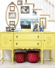Painted sideboard is so pretty.