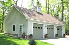Did you remember to shut the garage door? Most smart garage door openers tell you if it's open or shut no matter where you are. A new garage door can boost your curb appeal and the value of your home. Garage Building Plans, 3 Car Garage Plans, Garage Plans With Loft, Loft Plan, Building Ideas, Pole Barn Garage, Pole Barn Homes, Garage Doors, Pole Barns