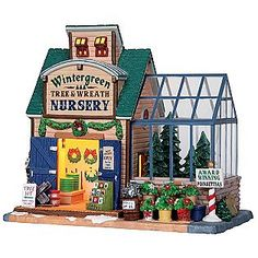 This Christmas Village accessory is sure to become a holiday favorite. Lemax Christmas Village, Christmas Tree Lots, Lemax Village, Christmas In The City, Christmas Town, Christmas Mantels, Christmas Villages, Vintage Christmas Ornaments, Christmas Pictures
