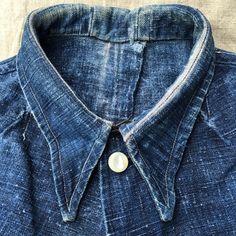 French 1930 Indigo Hemp Colonial Work Jacket