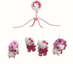 Amazon.com: Bedtime Originals Hello Kitty and Puppy Musical Mobile - Pink: Baby