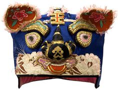 Chinese Children's Festival Hat~Image © Textile Museum of Canada Chinese Hat, Chinese Tiger, Laos, Venetian Costumes, Kids Hats, Children Hats, Chinese Babies, Chinese Festival, Vietnam