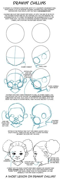 GO FORTH AND DRAW CHUBBY CHEEKS!, how to draw kids children chubby faces