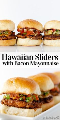 The title is summing up this tasty package, a must try with the bacon mayonnaise. Super delicious recipe at whippeditup.com Food Dishes, Main Dishes, Hawaiian Sliders, Homemade Chorizo, Hawaiian Dishes, Hawaiian Sweet Rolls, Honey Mustard Sauce, Chorizo Sausage, Thing 1