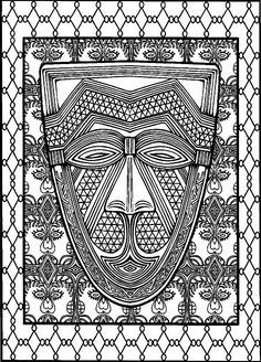 African Design Print Patterns Ornament School Online Diary Colouring Coloring Books Diaries Africans