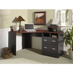 - Trendy Black Corner Desk