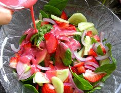 Spinach strawberry salad with homemade strawberry dressing | Flickr - Photo Sharing!