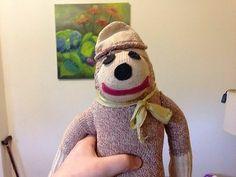 Pathetically Cute Hand Made Imp of A Vintage Sock Monkey w Hat Awww   eBay