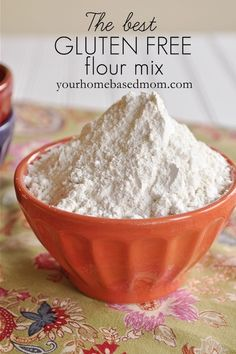 Cup for cup, make your own Gluten Free Flour Mix!  via Your Home Based Mom