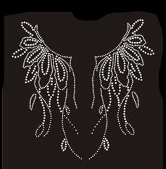Fashion White Hotfix Iron-On Crystal Rhinestone Transfer Clothes Neckline  1049  ebay  Home 1677dfcfa5c5