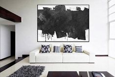 Huge Large Canvas prints add a unique touch to your home. Modern, stylish and unique design will be the most special piece of your decor. Especially for those who like abstract works, black and white acrylic painting can be prepared in desired sizes Original modern abstract painting, acrylic modern wall art, mid century black and white, large abstract painting, Contemporary Painting 16x24 (40x60cm) $75 20x30 (50x76cm) $110 30x40 (76x102cm) $180 36x48(92x122cm) $240 40x53.5(102x136cm) $310…