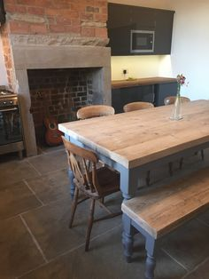 Reclaimed Pine Table And Chairs