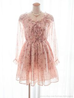 LIZ LISA Floral Lace up Nymph OP Dress Hime gyaru Lolita Kawaii Japan #LizLisa #PeplumTunic #Party