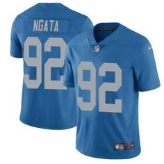9833e5afdb56 Nike Lions  92 Haloti Ngata Blue Throwback Men s Stitched NFL Limited  Jersey Nfl Detroit Lions