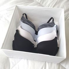 Treat bras like royalty. I've seen some clients twist them in the middle then fold them over or put them under the weight of other clothes! When we invest in clothing and undergarments, we should make the effort to see to their longevity for continued and effective use.  PC via @gonesimple #sparkjoy #konmari #konmarimethod #newyearsresolution #youcandothis #declutter #tidy #homeorganization #bras
