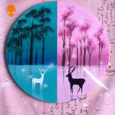 10 Deer Paintings For Home Decor Malen Tutorial Videos Home Decor Paintings, Deer Paintings, Painting & Drawing, Watercolor Paintings, Bff, Rock Painting Designs, Creative Art, Painted Rocks, My Drawings
