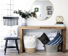 Shop Collective Looks from AshleyDSP - links to all products seen in this Modern Farmhouse entryway.