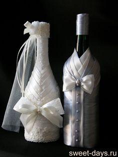 Resultado de imagen para свадебная бутылка декоративная