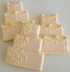 1 Dozen Wedding Cake Cookie Wedding Favors by SugaredHeartsBakery, $48.00