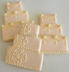 1 Dozen Wedding Cake Cookie Wedding Favors on Etsy, $48.00