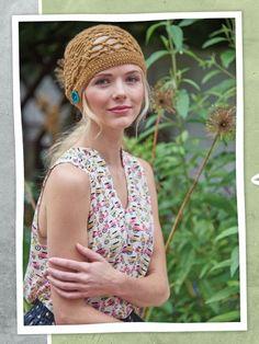Free crochet pattern: O'Hara Hat by Rebecca Velasquez from Vintage Modern Crochet via Petals to Picots Broomstick Lace Crochet, Crochet Lace, Crochet Stitches, Free Crochet, Crochet Edgings, Crochet Tunic, Freeform Crochet, Crochet Dresses, Cross Stitches
