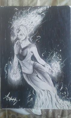 Flame Princess realistic drawing/fan art|Art by Athi Musoke