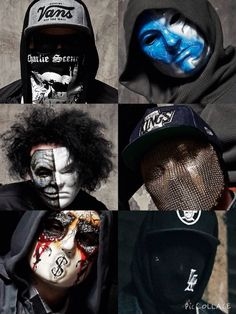 """hollywood undead ft. their new masks for the """"day of the dead"""" era :D"""