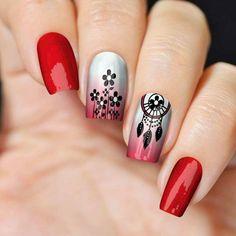 Aycrlic Nails, Pink Nails, Hair And Nails, Manicure, Cute Nail Art Designs, Gel Nail Designs, Nail Shapes Squoval, Indian Nails, Feather Nail Art
