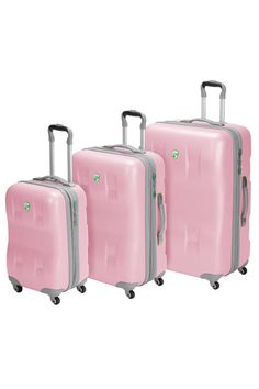 Rockland Luggage Reno 20 inch Hardside Spinning Carry-On, Pink Dot ...