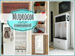 How to Contain Mudroom Clutter