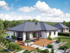 DOM.PL™ - Projekt domu ATK TK133 CE - DOM AK1-66 - gotowy koszt budowy Architecture, Future House, Bungalow, Teak, Gazebo, House Plans, Real Estate, Outdoor Structures, How To Plan
