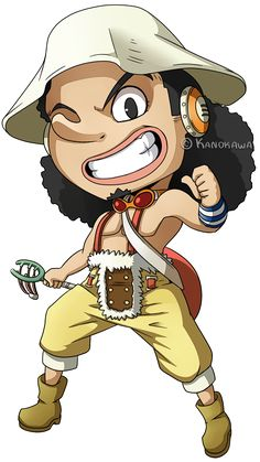 One Piece: Usopp Chibi by Kanokawa on deviantART