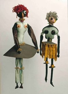 Hannah Höch Dada-Puppen, Textiles, carton et perles… Toy Art, Man Ray, Marionette Puppet, Puppets, Piet Mondrian, Photomontage, Collages, Collage Art, Dada Collage