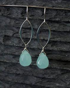 Last pair...Sterling Silver & Aqua Quartz MarquisEarrings by FlemingIslandSilver on Etsy, $26.00