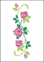 Resultado de imagen para stencil de rosas                                                                                                                                                      Mais