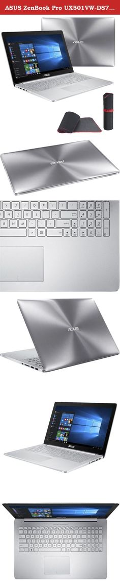 """ASUS ZenBook Pro UX501VW-DS71T (i7-6700HQ, 24GB RAM, 512GB NVMe SSD, NVIDIA GTX 960M 2GB, 15.6"""" IPS UHD Touchscreen Glossy, Windows 10) Laptop. *PROMOTION ($130 value): Exclusive Gaming Bundle included w/ your purchase. Official ASUS Gaming Partner 2016, We Ship Worldwide. ITEM 1: Free Memory Upgrade to 24GB ($100 value) ITEM 2: Free ASUS ROG GM50 Gaming Mouse Pad ($30 value) Product Specifications: Operating System: Microsoft® Windows 10 (64 Bit) Display: 15.6"""" IPS 4K UHD (3840 x 2160)..."""