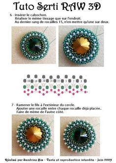 Serti raw page Jewelry Making Tutorials, Beading Tutorials, Beading Patterns, Beading Ideas, Beaded Jewelry Designs, Seed Bead Jewelry, Beading Techniques, Handmade Beads, Bead Art