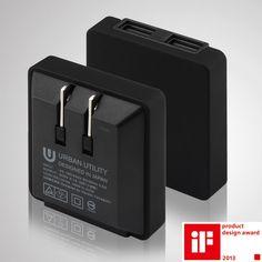 URBAN UTILITY 日系工藝美學高效率USB充電器5V/2A(鐵鉻灰)   設計   Citiesocial