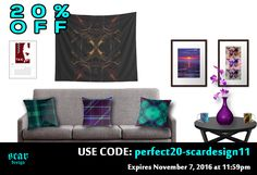 20% OFF EVERYTHING in my store. USE : perfect20-scardesign11   Expires November 7, 2016 at 11:59pm #redbubble #discount #homedecor #home #decor #scardesign #sales #November #NovemberSales #20percentdiscount #walltapestry #metalprint #framedart #photography #gaming #coffeemugs #throwpillows #pillows #livingroom #kids #gaming #gaminggifts #gamer #giftsforhim #giftsforher #tshirts #moviecalendar #cinemacalendar #cinema #movietshirts #movieposters #2017calendar