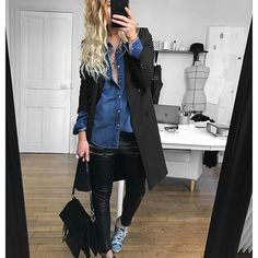 thekooples  bashparis  eponymcreation  goldengoose  chloe Chemise Jean,  Jeans, Mode e645dfc16d42