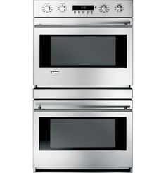"""ZET2SMSS - 30"""" Built-In Electronic Convection Double Wall Oven - The GE Monogram Collection"""